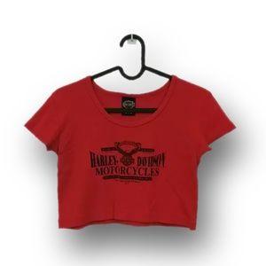 Vintage Harley-Davidson crop top